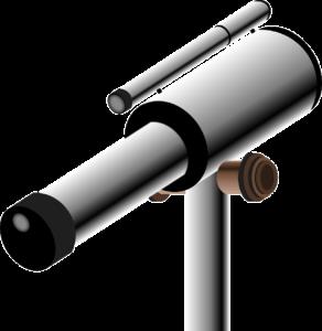 teleskop-kaufen-zeichnung. Gezeichnet von einem Astronomen