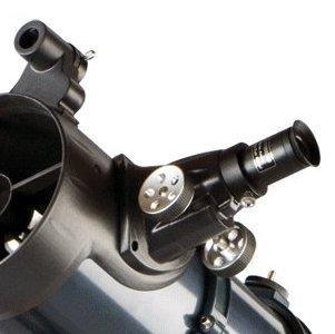 Celestron AstroMaster 130 EQ 130/650 Newton-Spiegelteleskop mit Nachführmotor und Stahlstativ -