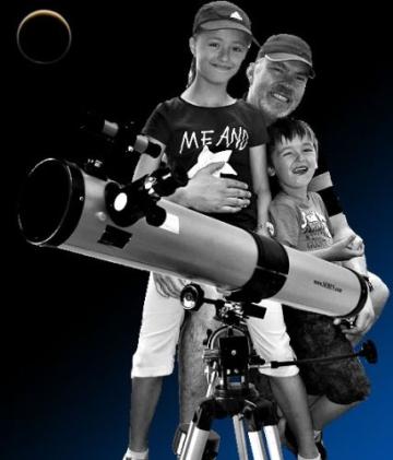 Seben 900-76 EQ2 Reflektor Teleskop inkl. Big Pack Zubehör Paket -