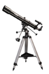 Skywatcher Evostar-90 (EQ-2) (90mm (3,5 Zoll), f/900) Refraktor Teleskop silber -